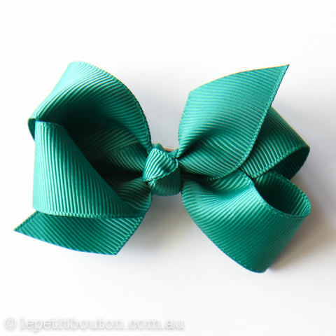 "Small Bow Hair Clip ""Colleen"" Bottle Green"