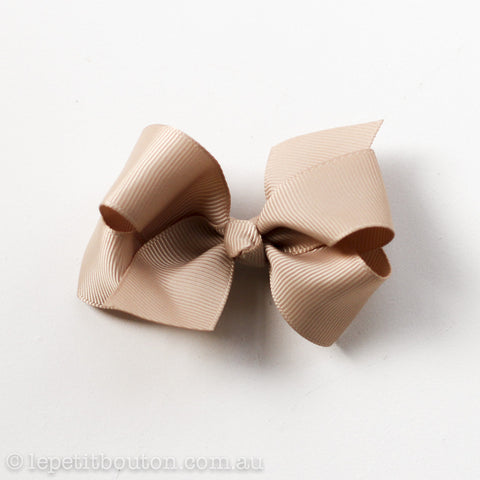 "Small Bow Hairclip ""Delilah"" Caramel"
