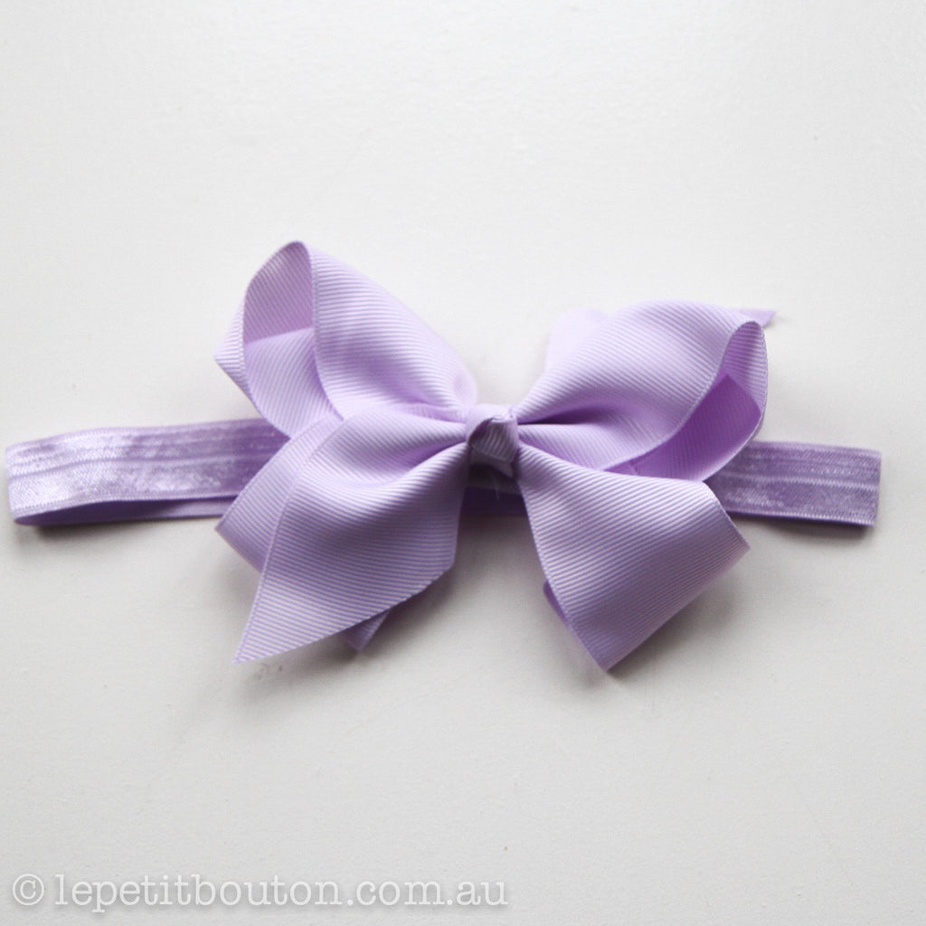 "Medium Bow Headband ""Wendy"" - Le Petit Bouton"
