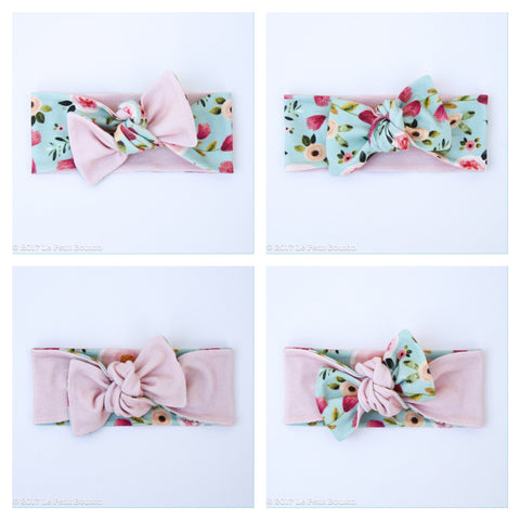 A17 Reversible Organic Bow Knot Headband