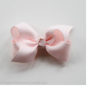 Medium Grosgrain Ribbon Bow Clip - Light Pink