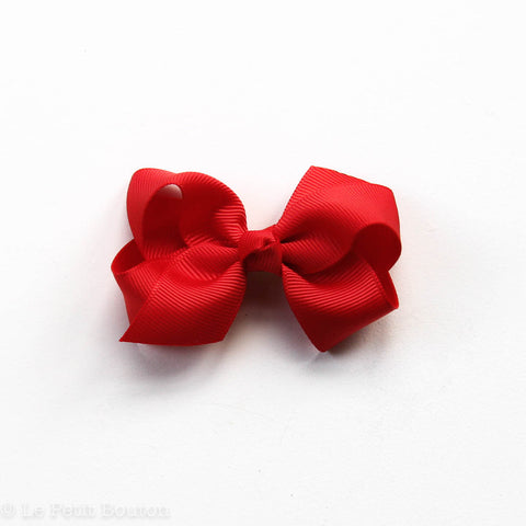 "Small Bow Hairclip  ""Scarlet"" Christmas Red"