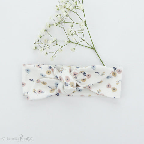 SS19 Organic Cotton Newborn Topknot Headband - Daisy Love
