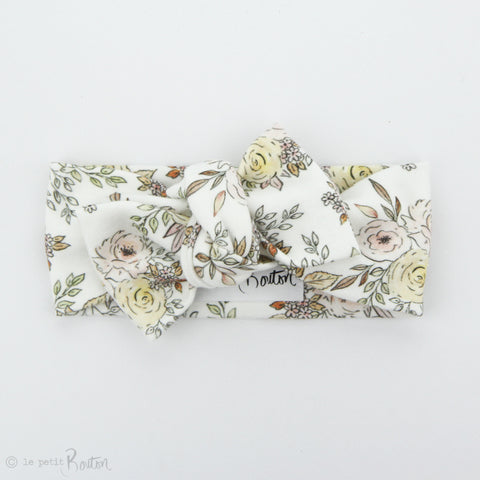 SS19 Exclusive Organic Cotton Bow Knot Headband - Wildflower Drawings