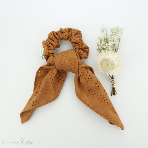 SS19 Scrunchie - Broderie Anglaise Scarf - Gingerbread