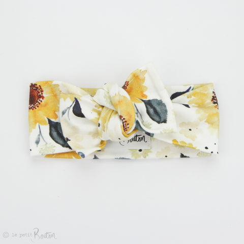 Spring 19 Organic Cotton Bow Knot Headband - Follow the Sun