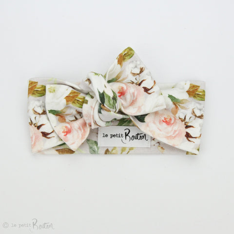 Organic Cotton Bow Knot Headband - Spring is Here