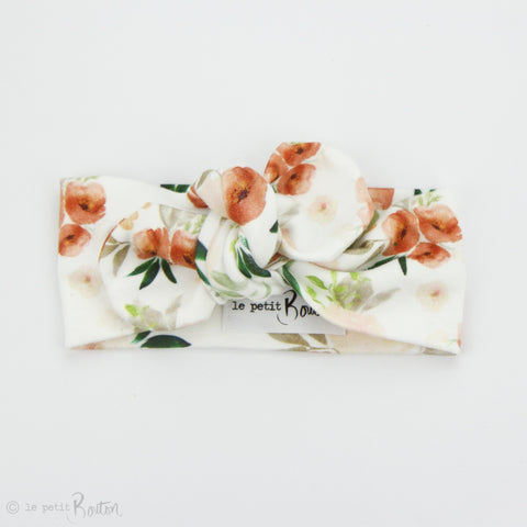 Spring 19 Organic Cotton Top Knot Headband - Terracotta Blooms