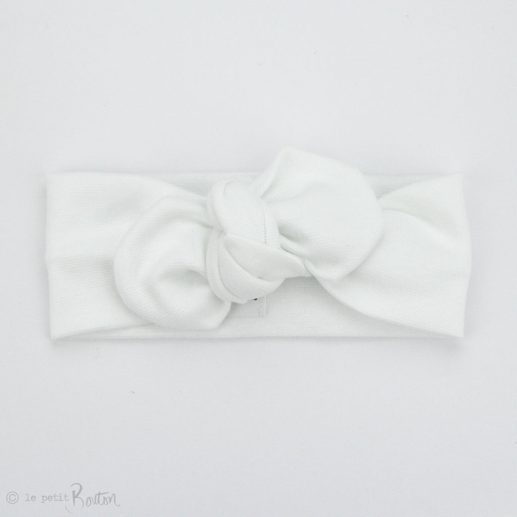Spring 19 Organic Cotton Ribbed Top Knot Headband - Coconut
