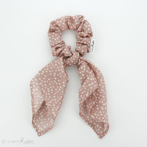 SS19 Scarf Scrunchie - Dusty Pink Dot Muslin