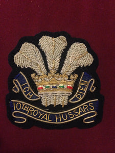 10th Royal Hussars Blazer Badge