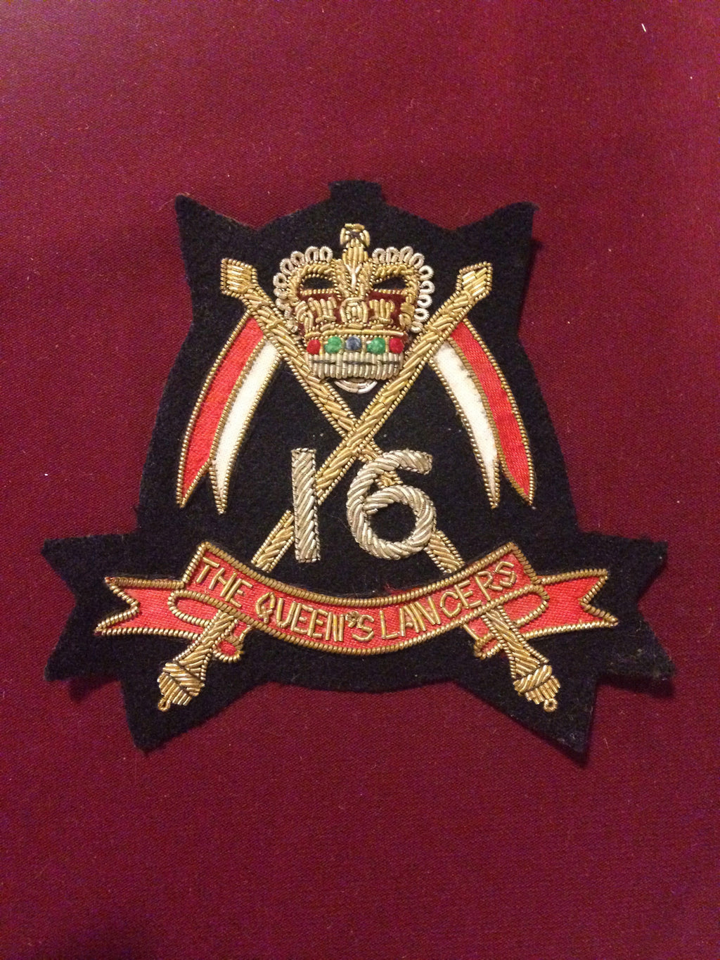 16th Queens Lancers Blazer Badge