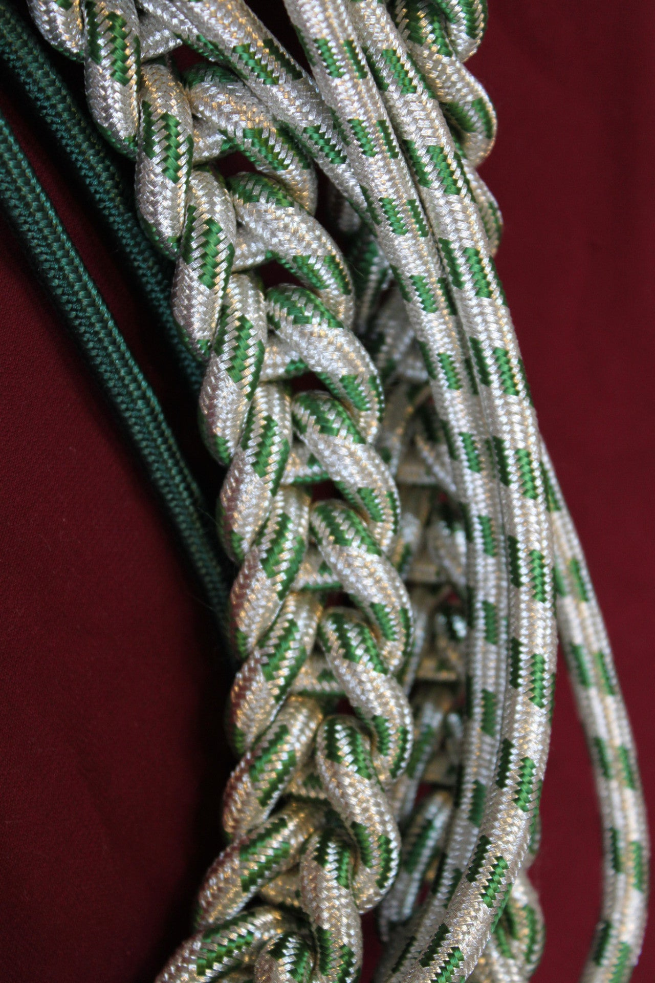 Green and Silver Aiguillette