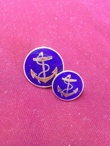 Anchor Buttons (Blue Enamel)