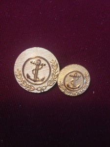 Anchor Buttons (with Laurel Leaves)