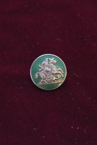 St. George and the Dragon Green Buttons