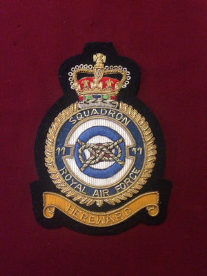 RAF 11th Squadron Blazer Badge
