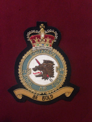 RAF 229th Squadron Blazer Badge