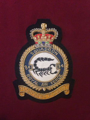 RAF 84th Squadron Blazer badge