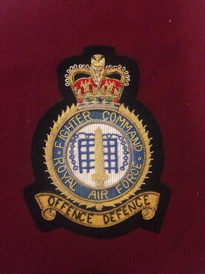 RAF Fighter command Blazer Badge