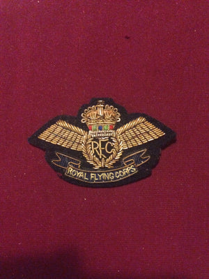 Royal Flying Corps Cap badge (gold)