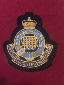 Royal Gloucestershire Hussars Blazer Badge