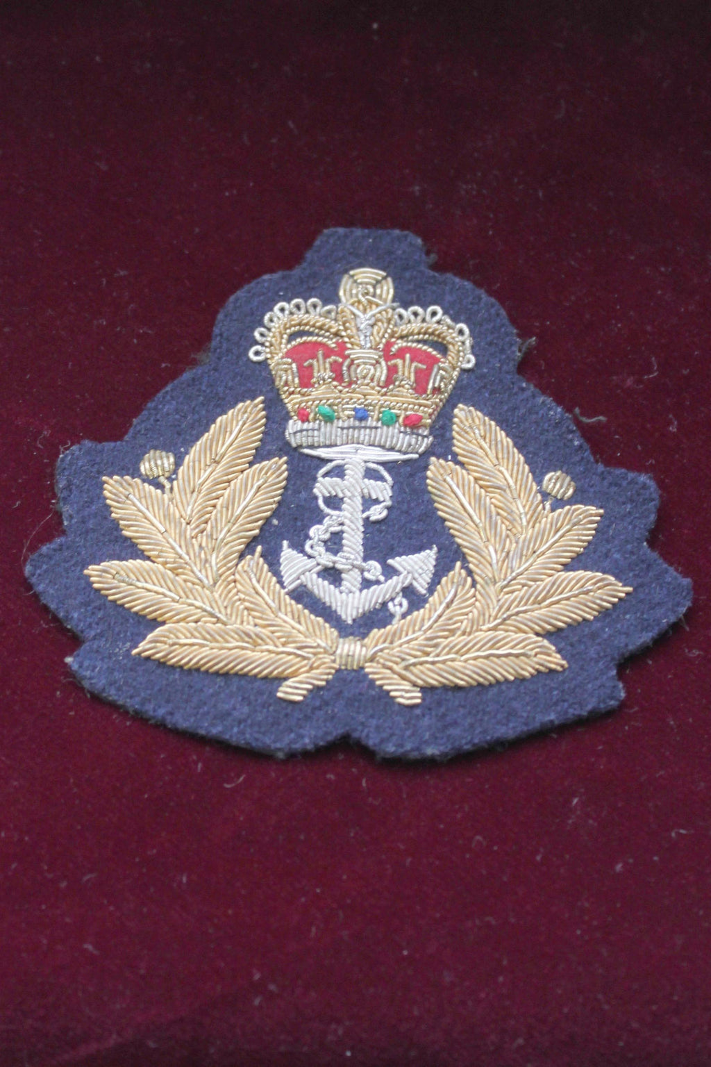 Royal Navy Warrant Officer Blazer Badge