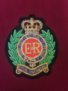 Royal Engineers Blazer Badge (green laurel)