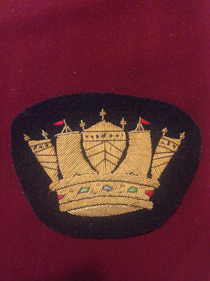 Royal Naval Crown Blazer Badge