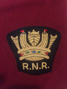 Royal Naval Crown Blazer Badge RNR