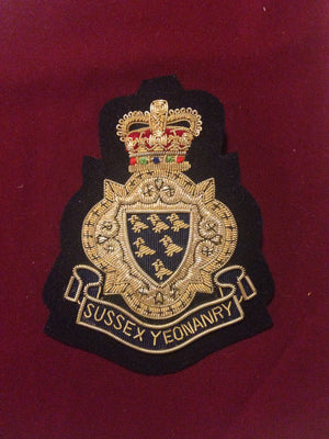 Sussex Yeomanry Blazer Badge(Vintage)