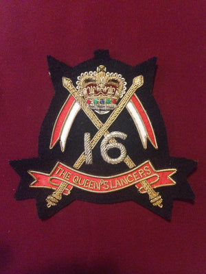 The 16 Queens Lancers Blazer Badge