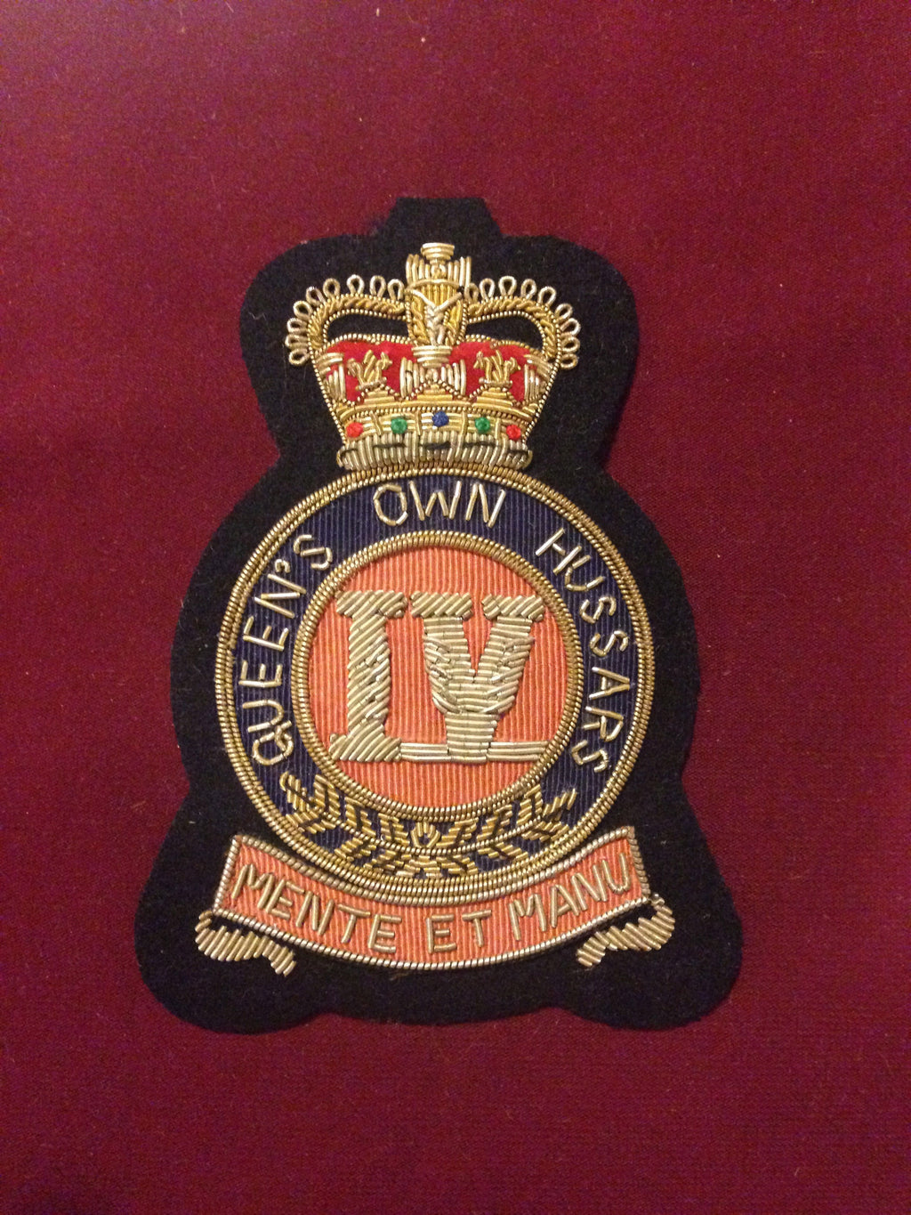 The Queens Own Hussars Blazer Badge
