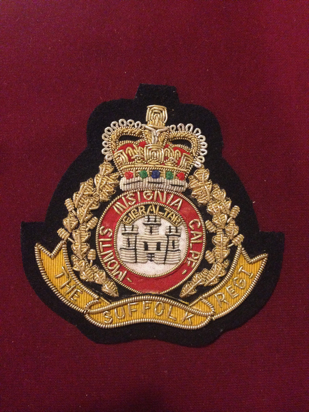 The Suffolk Regiment Blazer badge