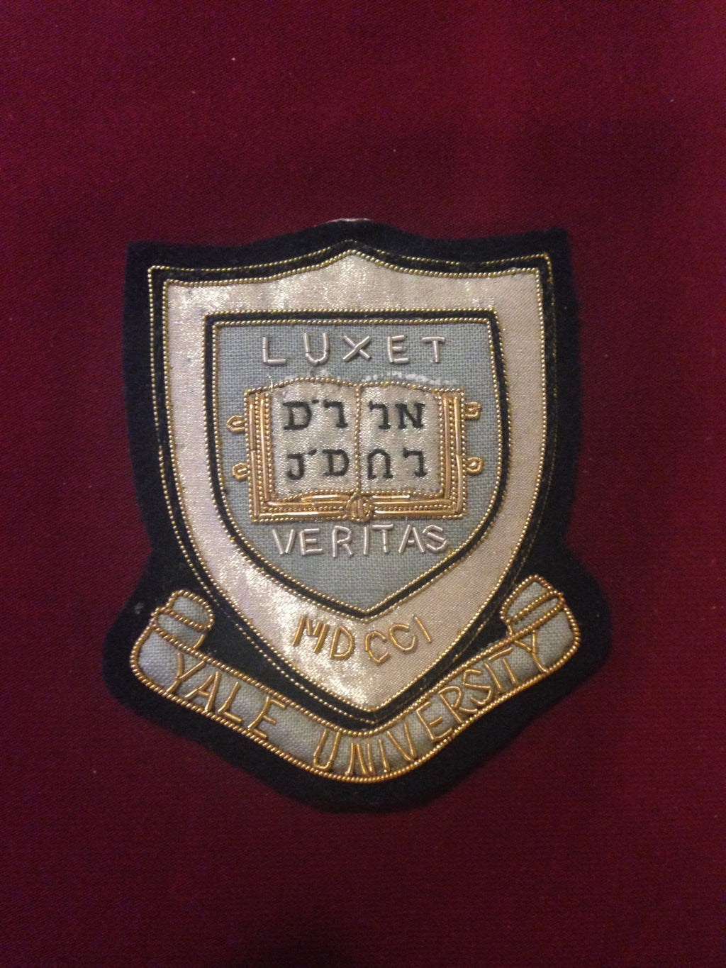 Yale University Blazer Badge