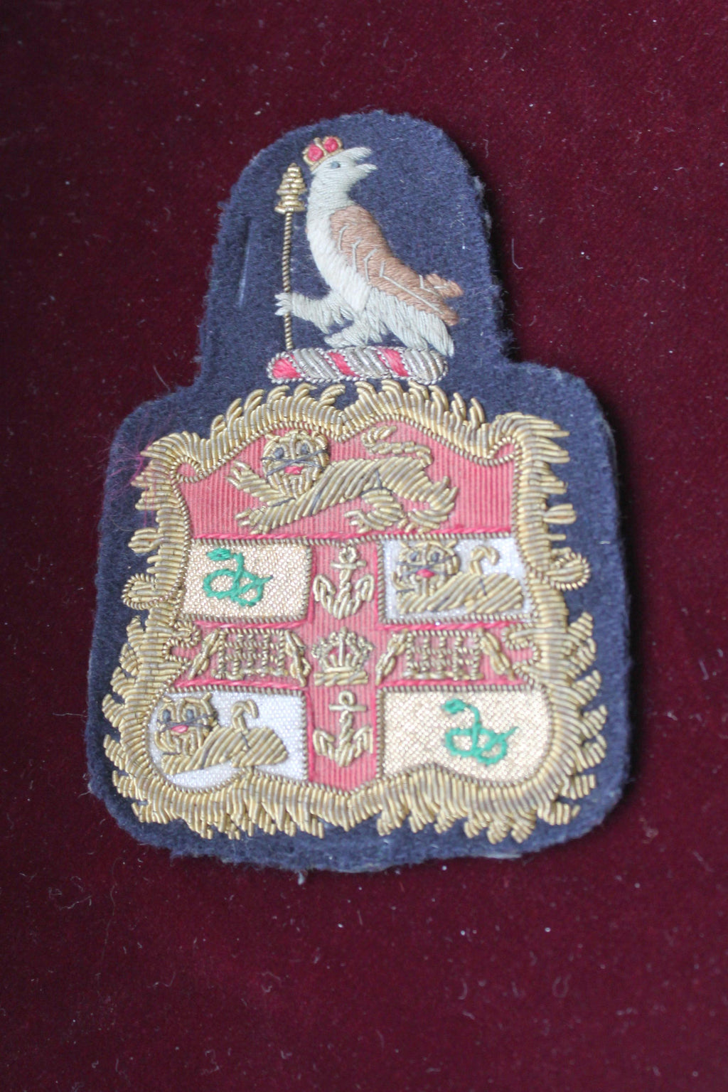 Lion, Serpent and Gates Crest with Pigeon Blazer Badge