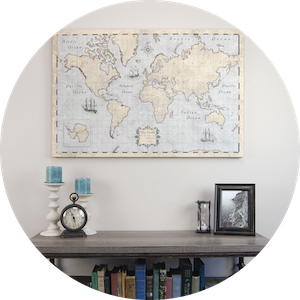 World Pin Board Maps and Poster Maps for Home and Office by Conquest Maps on Jetset Times SHOP