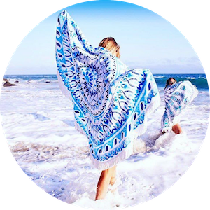 Luxury Bohemian Round Beach Towels and Throws by Vagabond Beach on Jetset Times SHOP