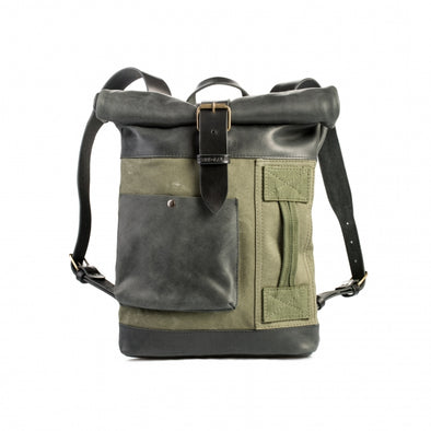 Military Canvas Slip Pocket Backpack