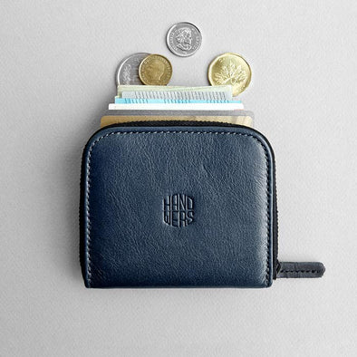 Leather Travel Zipper Wallet - Cliff in Blue by HANDWERS on Jetset Times SHOP