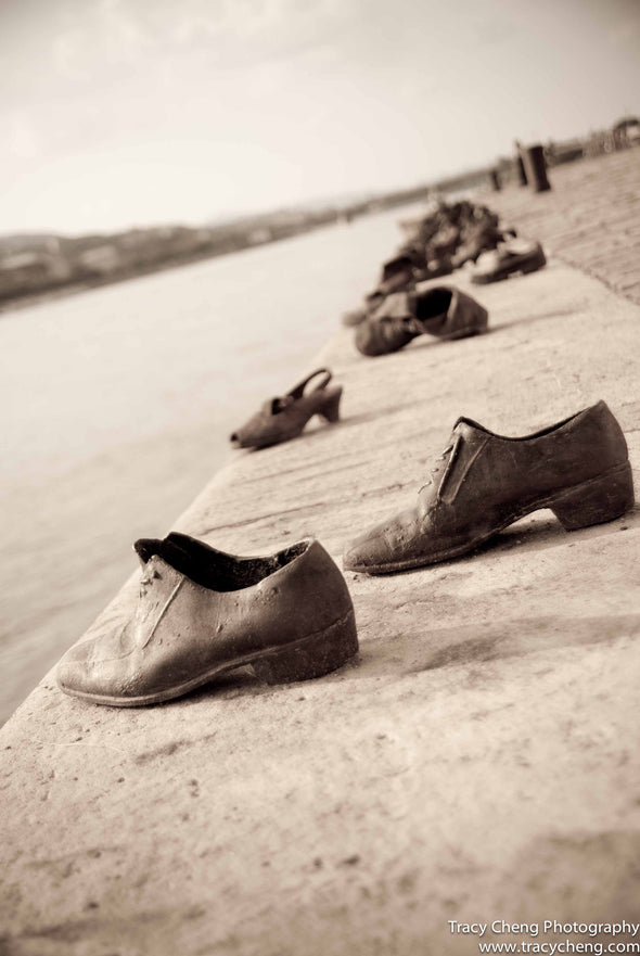 Shoes on Danube River, Budapest - Photography Wall Art Print by Tracy Cheng Photography on Jetset Times SHOP