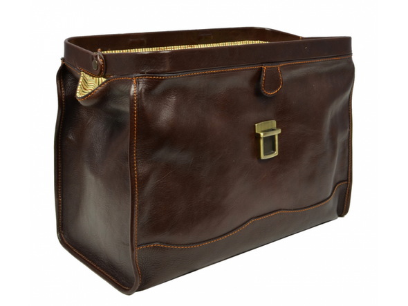 Dark Brown Leather Doctor Bag - David Copperfield for Men and Women by Time Resistance on Jetset Times SHOP