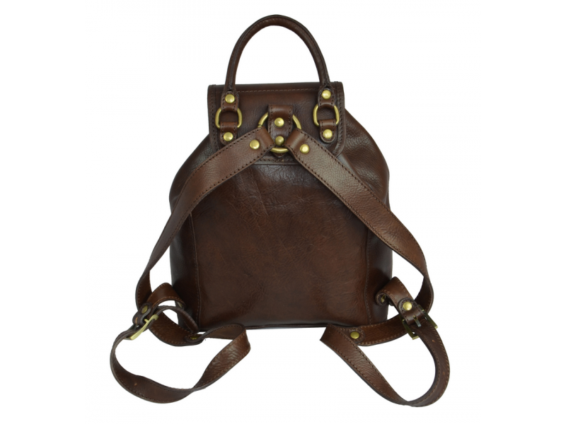Women's Brown Leather Backpack - Jane Eyre by Time Resistance on Jetset Times SHOP