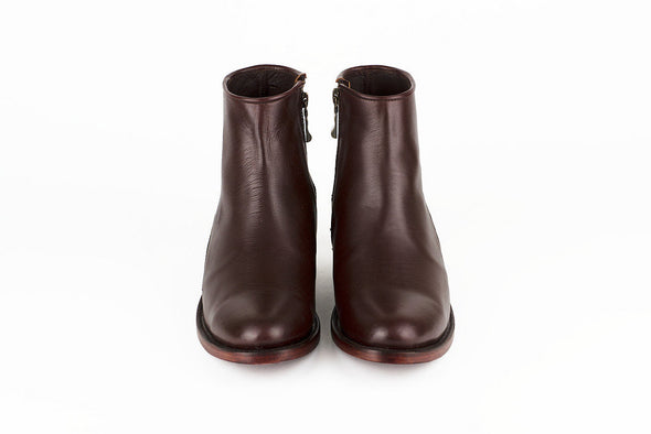 Women's Burgundy Leather Ankle Boots - MAZAMITLA by TapatÌ_a on Jetset Times SHOP