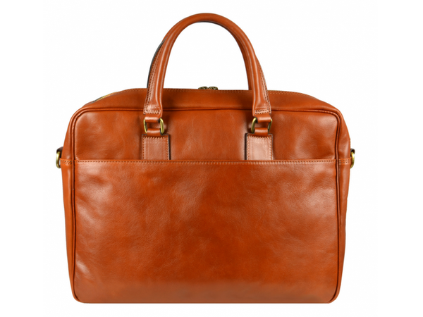 Orange Leather Briefcase Laptop Bag for Men and Women - The Little Prince