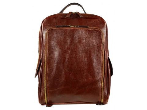 Leather Backpack for Men and Women - The Sun Also Rises in Various Colors
