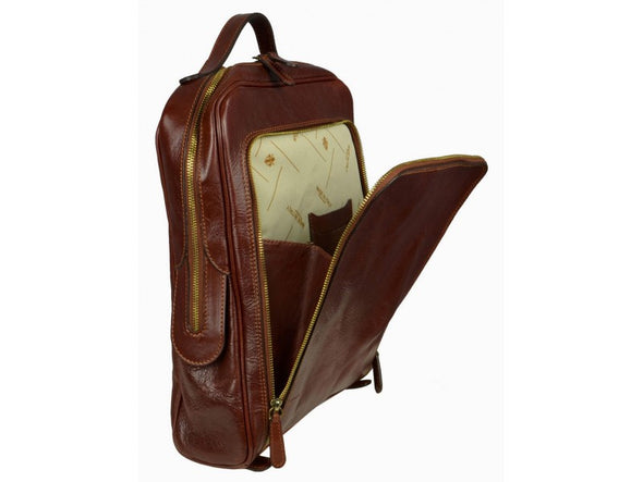 Dark Brown Leather Backpack - The Sun Also Rises for Men and Women by Time Resistance on Jetset Times SHOP