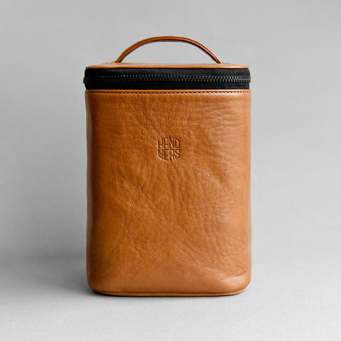 Men's Leather Dopp Kit - Yard in Brown