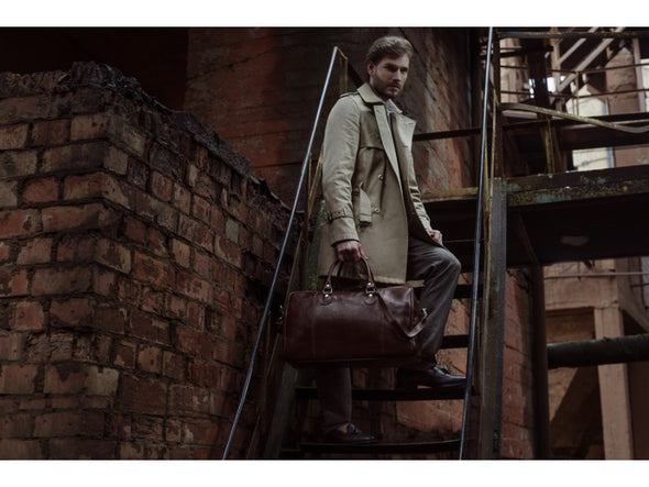 Dark Brown Leather Duffel Bag - The Count of Monte Cristo for Men and Women by Time Resistance on Jetset Times SHOP