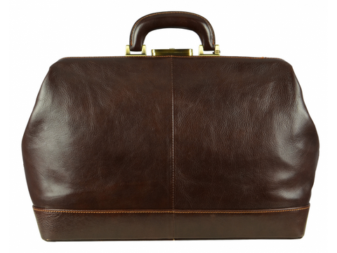 Brown Leather Doctor Bag for Men and Women - Hamlet